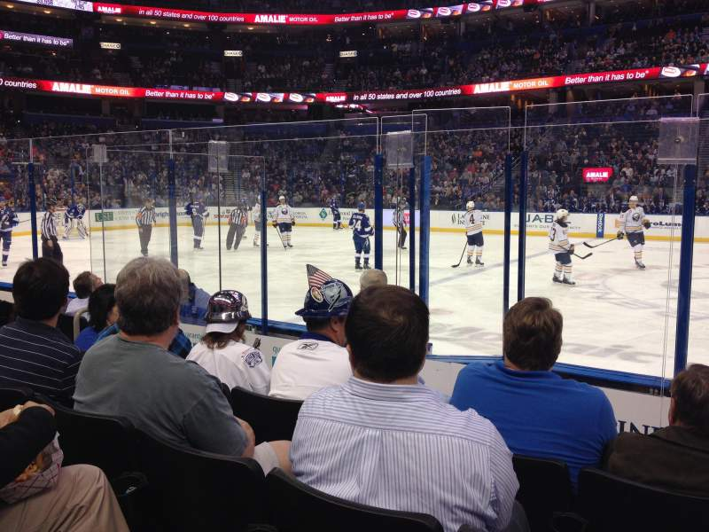 Hockey Rink Iphone Wallpaper Amalie Arena Section 116 Row F Seat 11 Tampa Bay