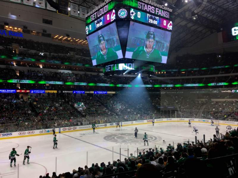 Dallas Stars Wallpaper Iphone American Airlines Center Section 121 Home Of Dallas