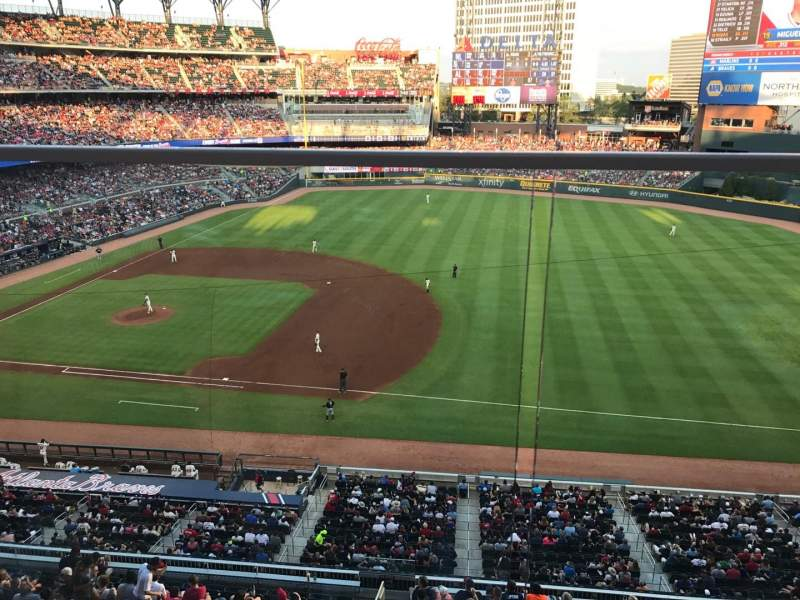 Phillies Iphone Wallpaper Suntrust Park Section 317 Row 1 Seat 10 Atlanta