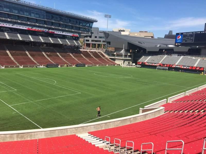 Nippert Stadium, section 111, row 32, seat 11 - FC Cincinnati