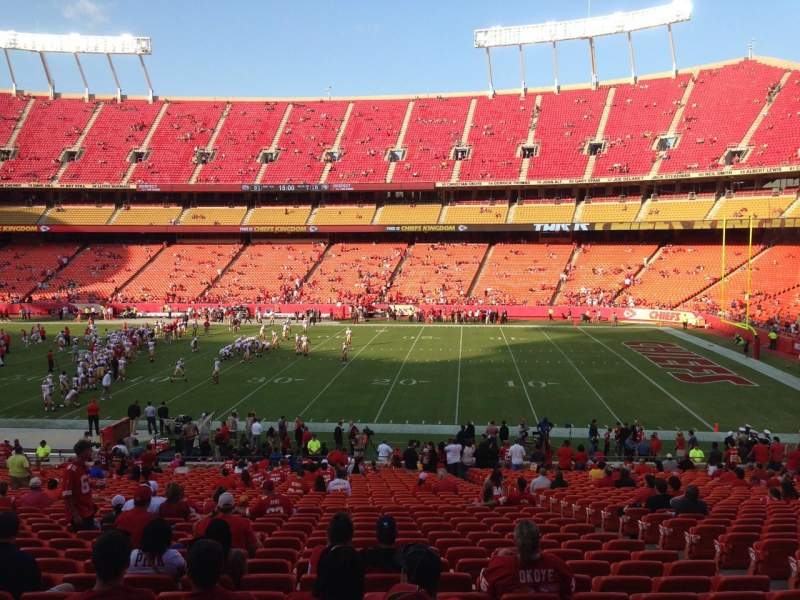 Chiefs Iphone Wallpaper Arrowhead Stadium Section 117 Row 35 Seat 8 Kansas City
