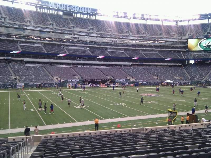 MetLife Stadium, section 116, row 22, seat 17 - New York Jets vs New
