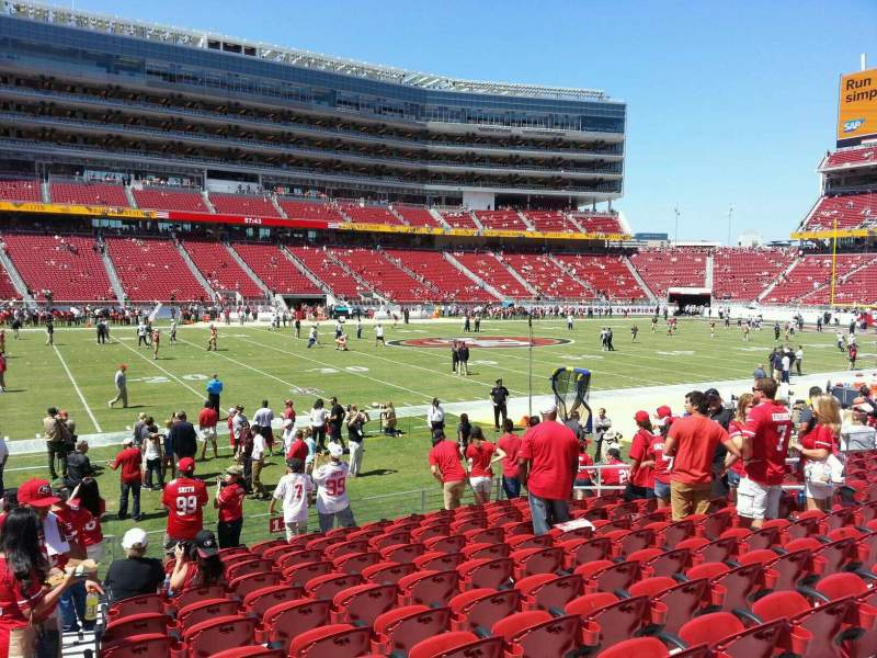 San Francisco 49ers Wallpaper Iphone Levi S Stadium Section 119 Home Of San Francisco 49ers