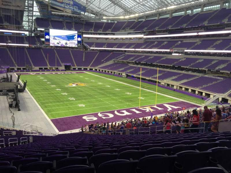 Seat view reviews from US Bank Stadium, home of Minnesota Vikings