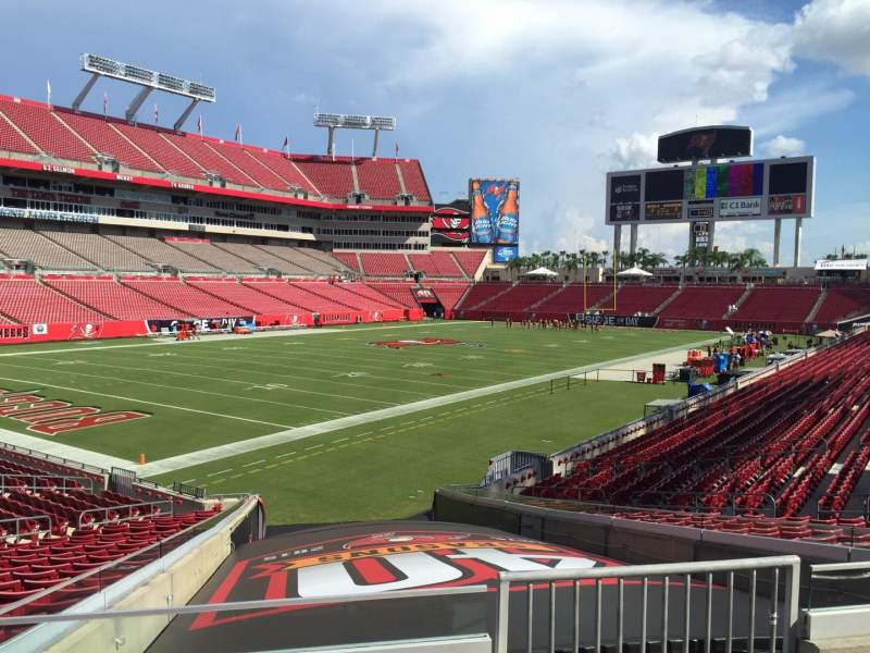 Seat view reviews from Raymond James Stadium, home of Tampa Bay