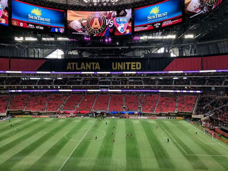 Atlanta United Fc Iphone Wallpaper Mercedes Benz Stadium Section 209 Row 4 Seat 9