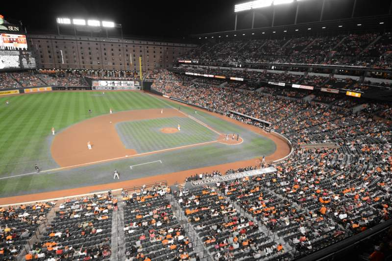 Orioles Iphone Wallpaper Oriole Park At Camden Yards Section 356 Row 1 Seat 1