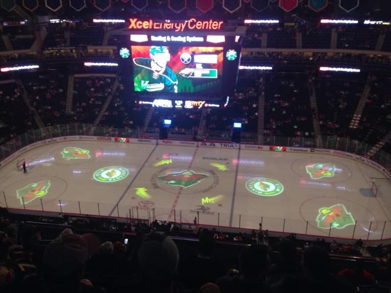 Xcel Energy Center, section 203, row 9, seat 13 - Minnesota Wild vs