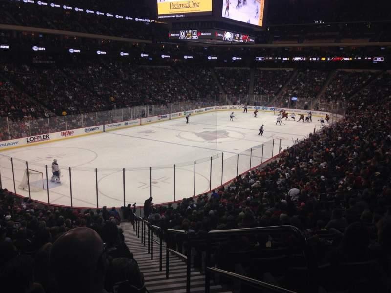 Xcel Energy Center, section 121, row 25, seat 1 - Minnesota Wild vs