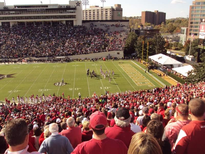 Mississippi State Wallpaper Iphone Vanderbilt Stadium Section U Row 56 Seat 15 16