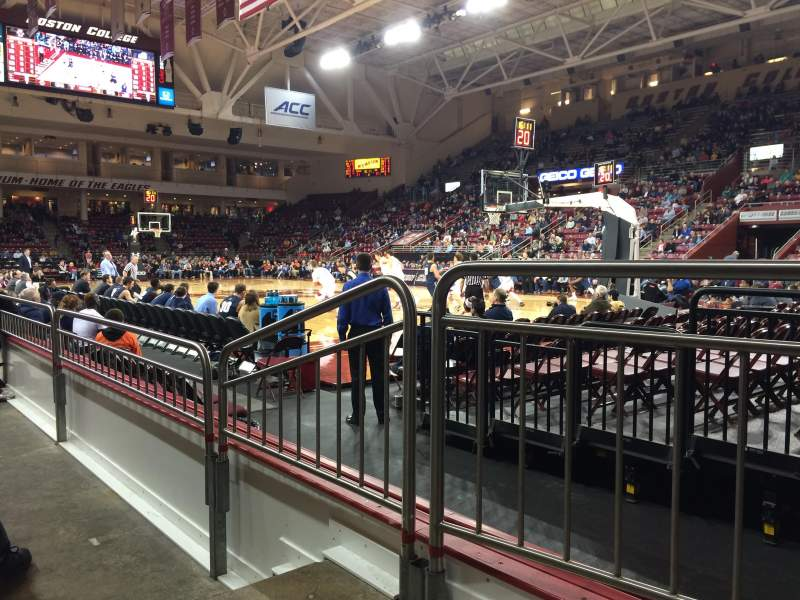 Conte Forum, section I, row 2, seat 8 - Boston College Eagles vs New