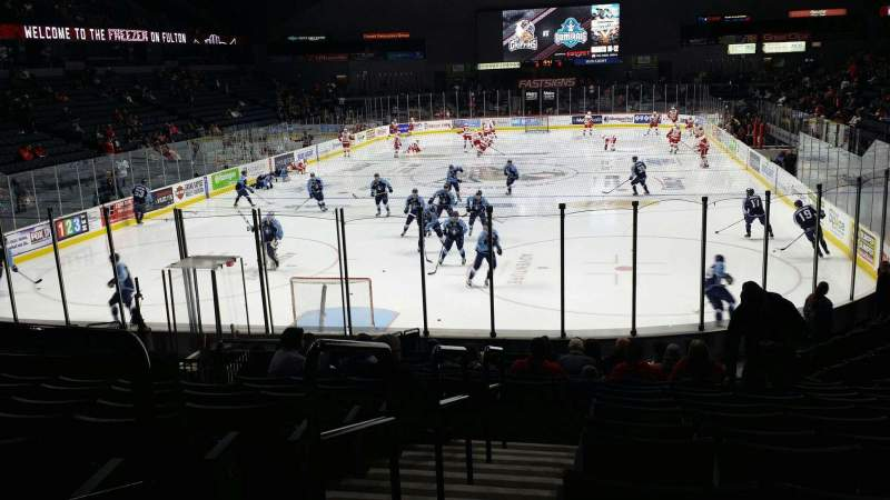 Van Andel Arena, section 128, row R, seat 12 - Grand Rapids Griffins
