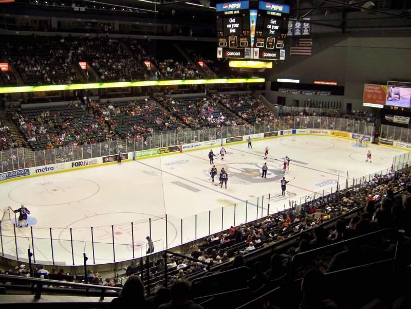 Van Andel Arena, section 225, row H, seat 1 - Grand Rapids Griffins