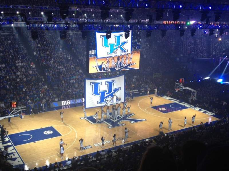 Seat view reviews from Rupp Arena, home of Kentucky Wildcats