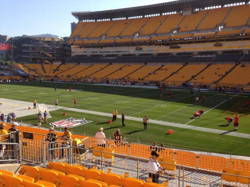 New Heinz Field Seating Chart Rows heinz field, section 115, row s