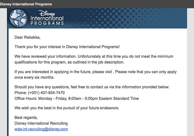 disney college program resume sample