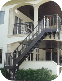 Exterior Stair Railings  Avion Metal Works of Florida