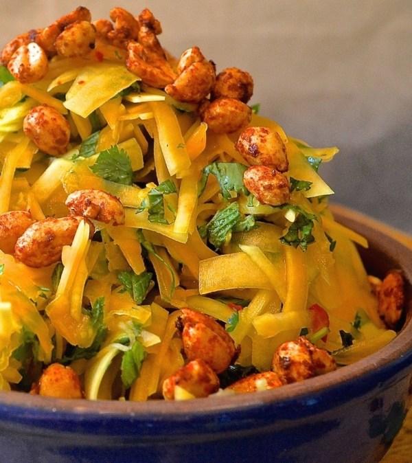 spicy papaya salad with smoky roasted peanuts a virtual