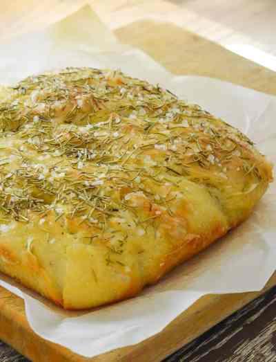 Easy No Knead Focaccia Bread with Rosemary & Sea Salt - A Virtual Vegan