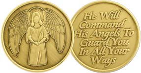 Angels To Guard Bronze Medallion