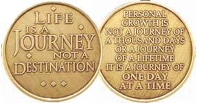 Life Is A Journey Not A Destination Bronze Medallion