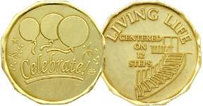 Living Life Centered On The 12 Steps Bronze Medallion