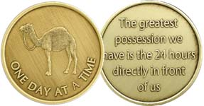 One Day At A Time Camel Bronze Medallion