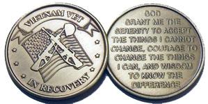 Vietnam Vet In  Recovery Bronze Medallion