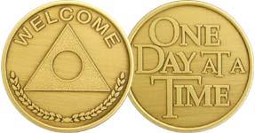 Welcome with Al-Anon Symbol Bronze Medallion