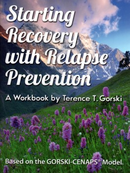 Starting Recovery with Relapse Prevention Workbook