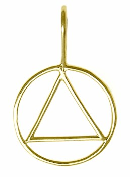 Alcoholics Anonymous Gold Charm 387-1