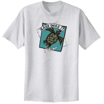Easy Does It Sea Turtle Ash Tee Shirt