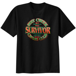 Shit Creek Canoe Club Survivor Black Tee Shirt