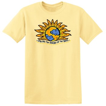 Step Into The Sunlight of the Spirit Yellow Tee Shirt