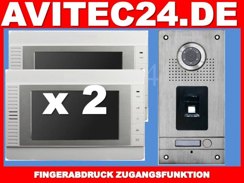 Türschloss Wlan Fingerprint Video TÜrsprechanlage Vt56 + 2x Vt32 - Avitec