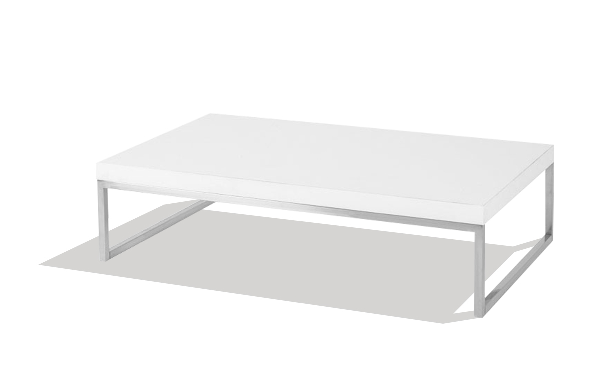 Table Rectangulaire Blanche Table Basse Blanche Rectangulaire Design En Image