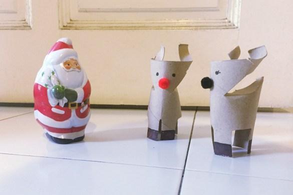 reindeer and mr. santa claus
