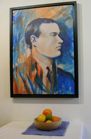1916 Padraig Pearse print with still life.