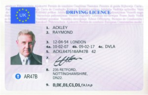 Ackley NEW UK DRIVING LICENCE
