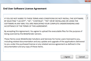 EULA for Bitdefender online scanner