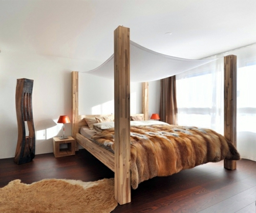 Bett Holzgestell 50 Cool Ideas For Canopy Beds Made Of Wood In The Bedroom