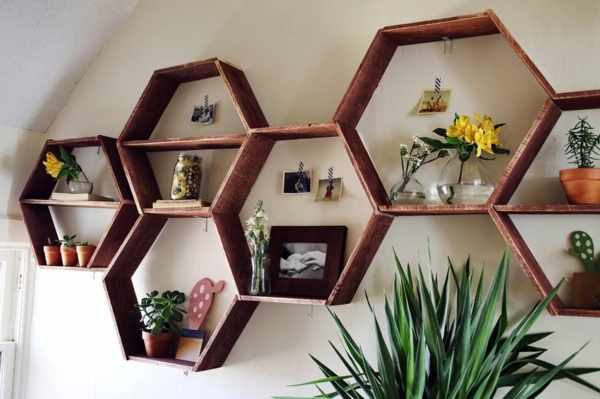 Wandregal Dvd Diy Wall Shelf Honeycomb – Creative Ideas For Your Home