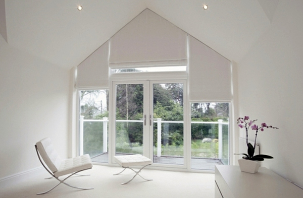 Fenster Rollos Innen Verdunkeln Triangular Windows Darken – Window Blinds Or Window Films
