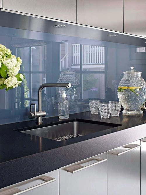 Wandpaneele Für Küchen 30 Interior Design Ideas For Kitchen Glass Back Wall