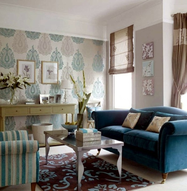 Wohnzimmer Tapeten Ideen Choose The Appropriate Color For The Living Room Wallpaper