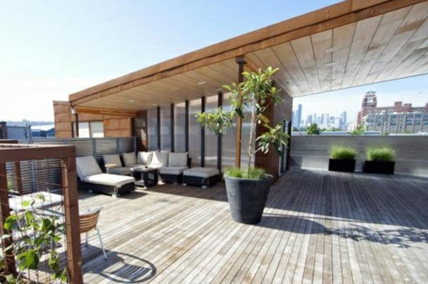Designer Hollywoodschaukel Covered Terrace – 50 Ideas For Patio Roof Of Modern Houses