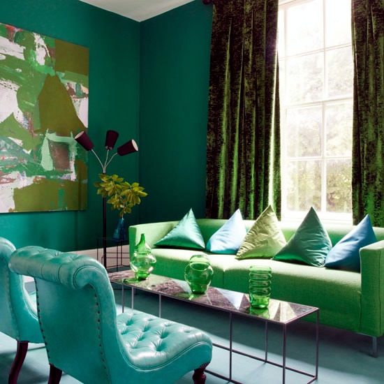 Wandfarben Palette Trends In The Interior Emerald Green Is The Trend Color