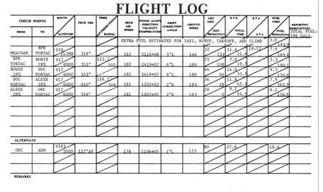 flight log form - Mersnproforum