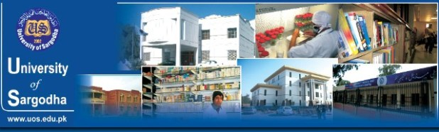 University of Sargodha Women Campus Fall Admissions 2013