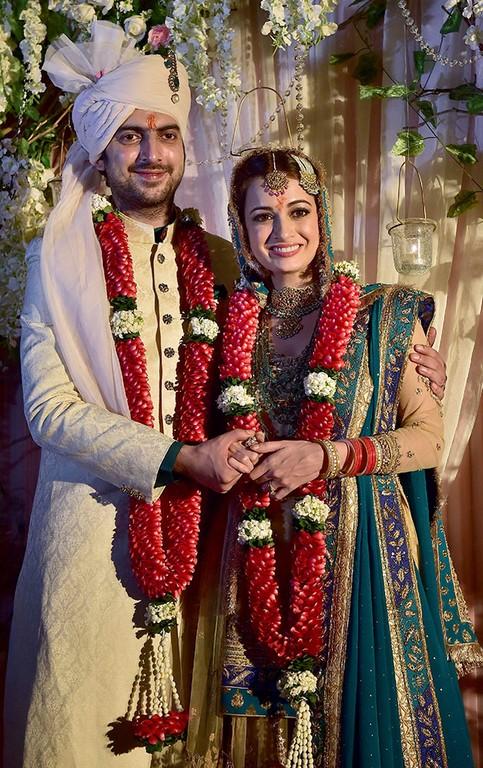Dia Mirza& Sahil Sangha wedding Pic